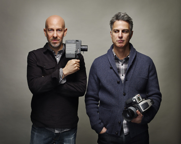 Filmmaker Joshua Seftel, left, captured photographer Phil Toledano's project,