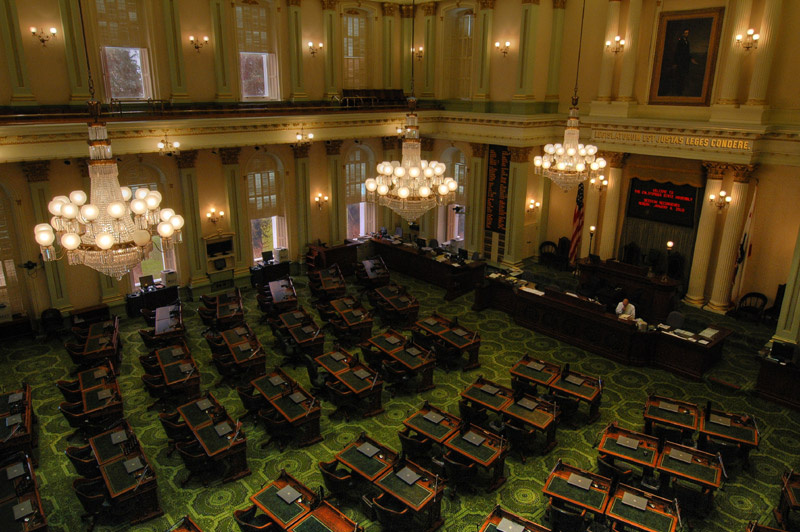 File: The California State Assembly floor