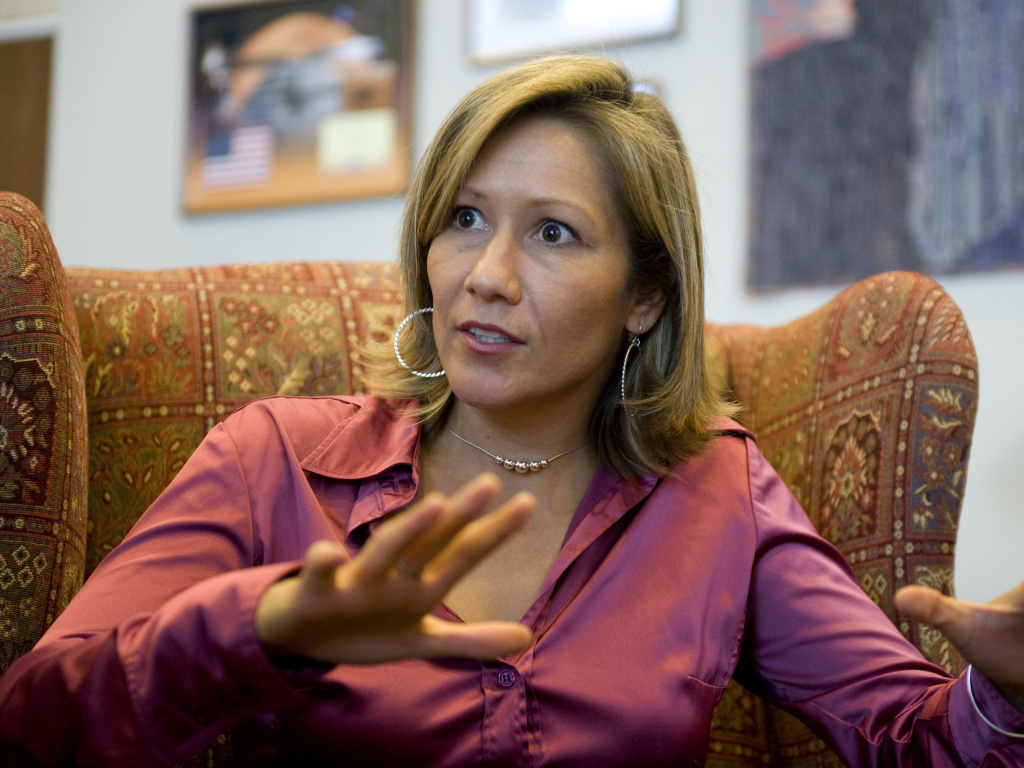 Amanda Renteria, seen in 2008, is a new entry to the California gubernatorial race.