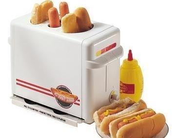 A signature SkyMall item: The hot dog bun toaster.