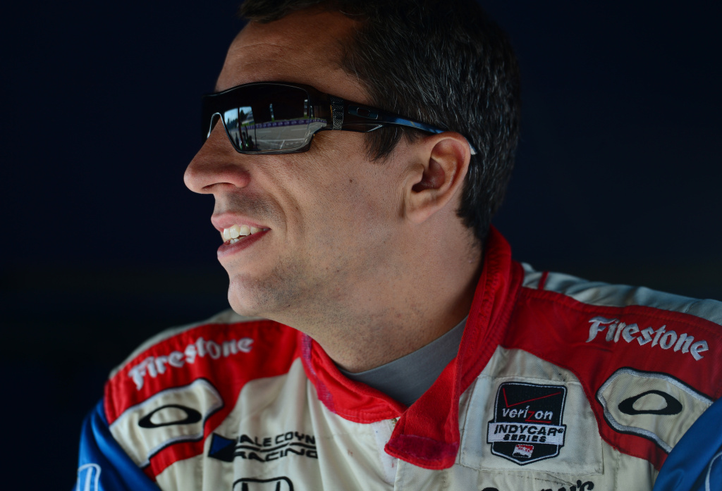 File: Justin Wilson of England driver of the #19 Dale Coyne Racing Dallara Honda during qualifying for the Verizon IndyCar Series Chevrolet Indy Dual in Detroit Dual 2 race at Belle Isle Park on June 1, 2014 in Detroit, Michigan.