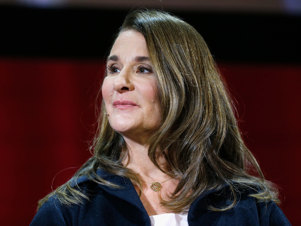 Melinda Gates at a panel discussion in New York City in February. She is the author of a new book,