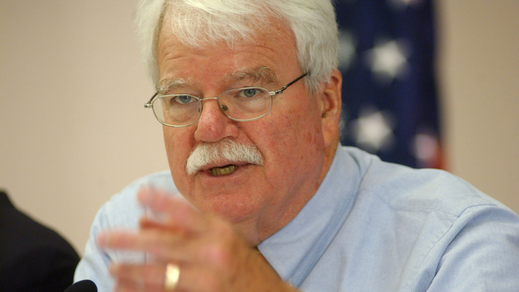 Rep. George Miller, D-Calif., addresses a panel of family members during a hearing on the Upper Big Branch Mine Tragedy in Beckley, W.Va., at the Beckley-Raleigh Convention Center in May 2010.