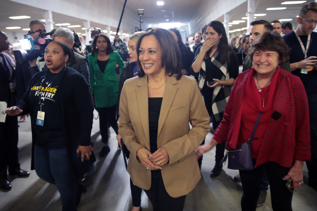 Democratic presidential candidate Sen. Kamala Harris (D-CA) in Iowa.
