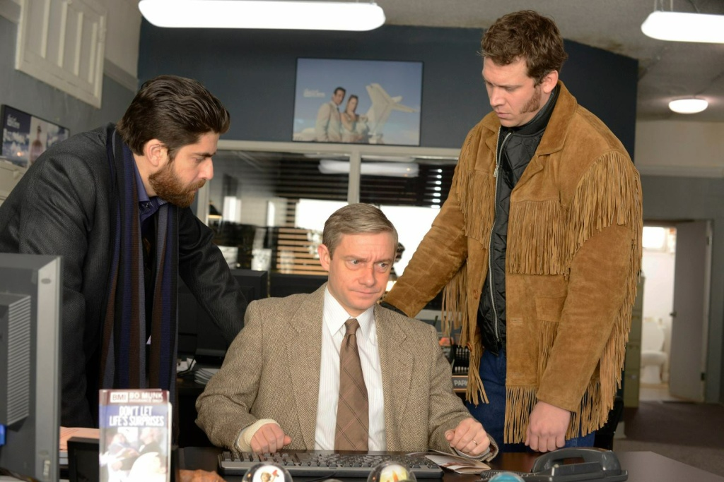 Adam Goldberg, Martin Freeman and Russell Harvard in FX's