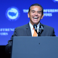 Then-Los Angeles Mayor Antonio Villaraigosa speaks at the 81st annual U.S. Conference of Mayors at the Mandalay Bay Convention Center on June 21, 2013 in Las Vegas, Nevada.