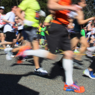 Runners head out during the start of the 115th Boston Marathon on April 18, 2011, in Hopkinton, Mass.