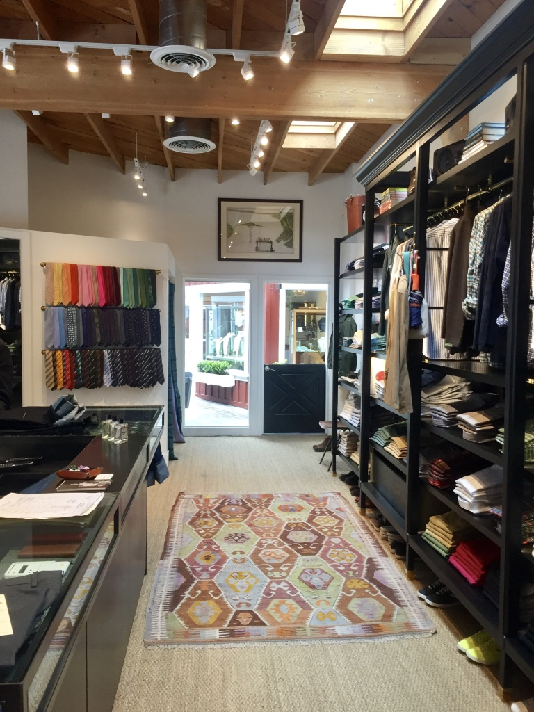 The Sid Mashburn boutique at Brentwood Country Mart.