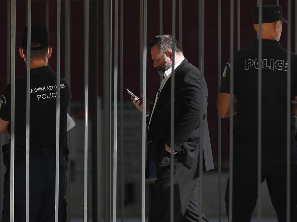 A Greek court has sentenced Nikos Michaloliakos and another former Golden Dawn leader, Ioannis Lagos (seen here), to 13 years in prison, after finding the party to be a criminal organization.