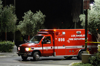 A Los Angeles City Fire Department ambulance.