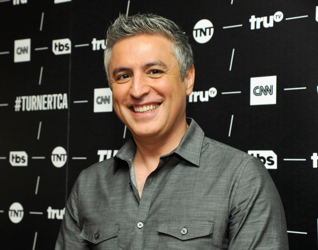 Host of 'Believer with Reza Aslan' Reza Aslan poses in the green room during the TCA Turner Winter Press Tour 2017 Presentation at The Langham Resort on January 14, 2017 in Pasadena, California.