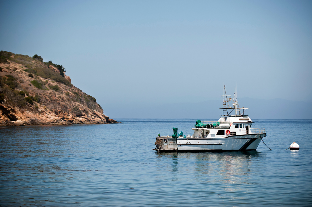 File: A National Parks Service boat transports staffers to and from the Channel Islands and Ventura Harbor.