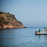 A National Parks Service boat transports staffers to and from the Channel Islands and Ventura Harbor.