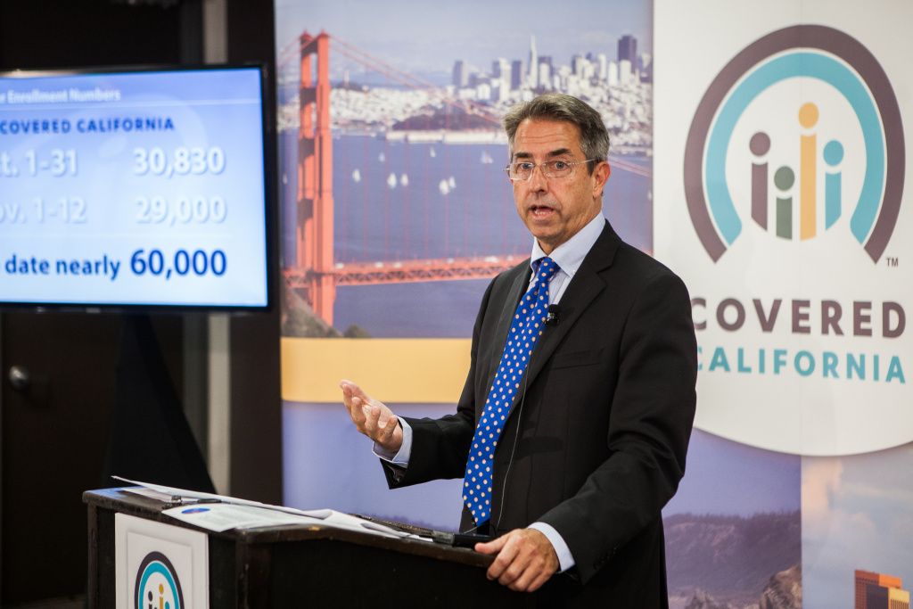File: Covered California Executive Director Peter Lee speaks during a press conference regarding the number of new health care enrollees through CoveredCA.com, the health insurance exchange for the state of California, on Nov. 13, 2013 in Sacramento, California.