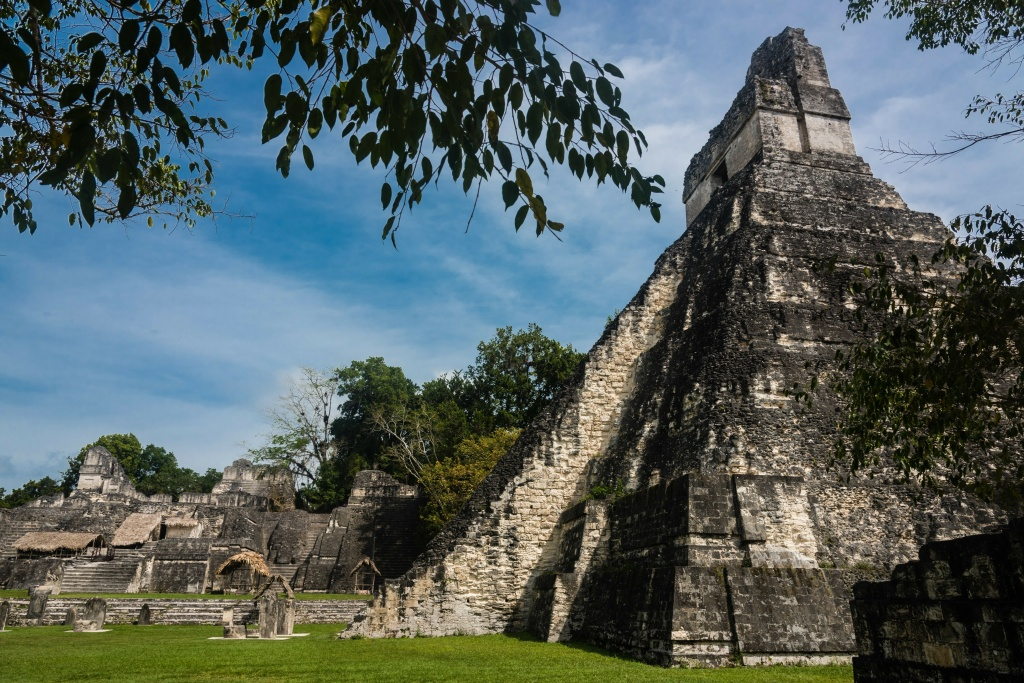 Ancient Maya ruins at Tikal in northern Guatemala, near the border with Belize. Researcher Heather McKillop explains that Maya sites like Tikal could have been popular marketplaces to trade salt and other commodities.