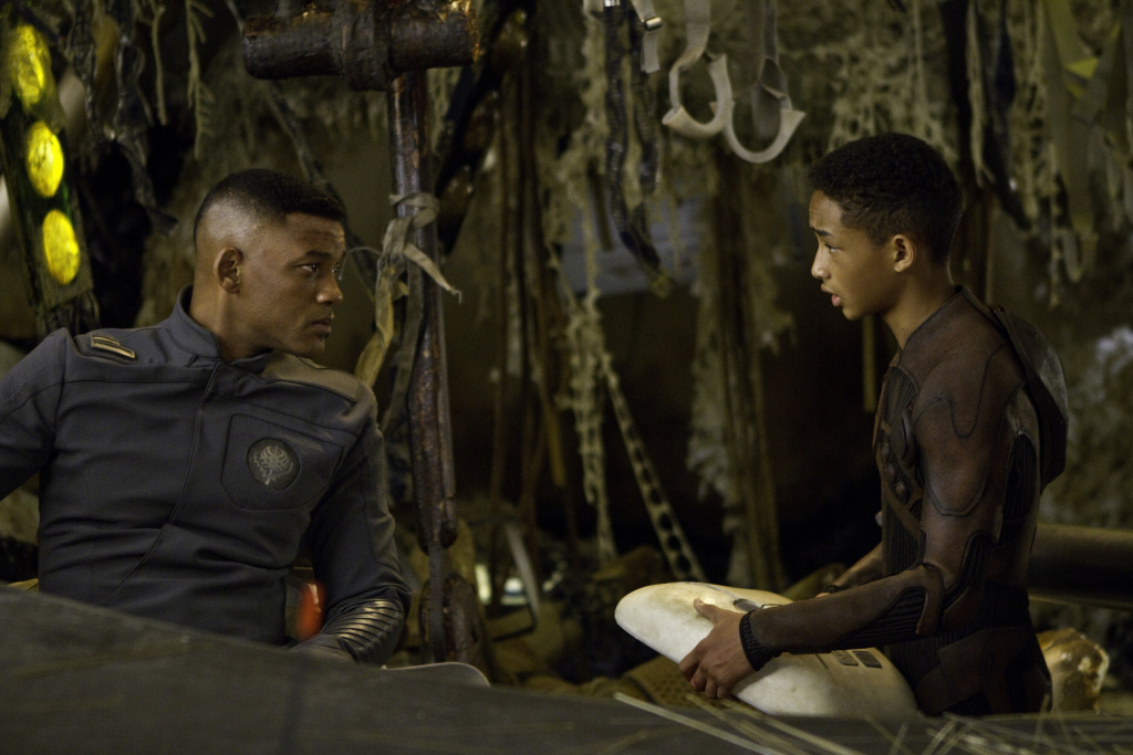 Will Smith, left, and Jaden Smith star in Columbia Pictures'