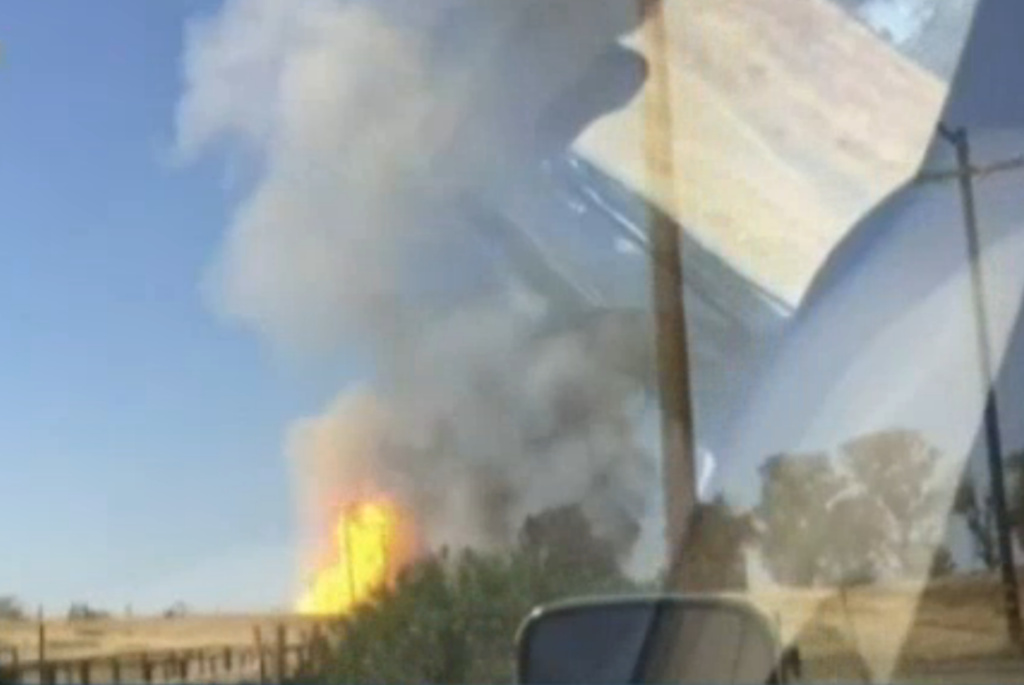 It was not clear what caused the explosion at the Fresno County Sheriff's gun range that brought traffic in the area to a halt.