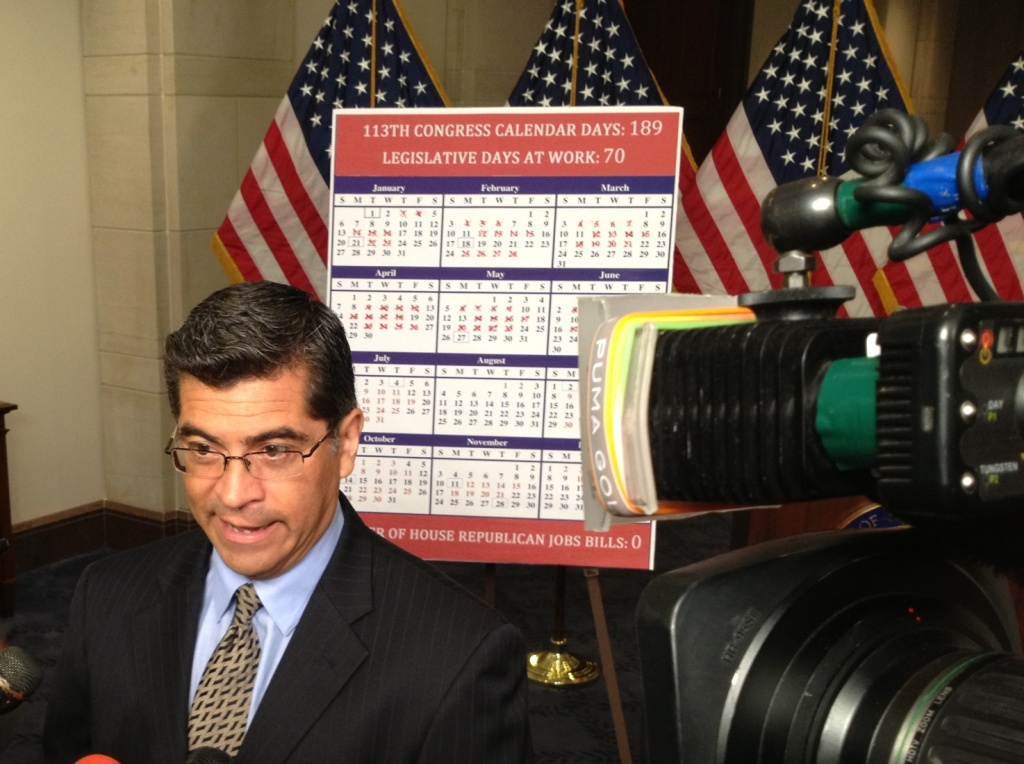 Democratic Caucus chair Xavier Becerra of Los Angeles says it'll be hard to find Democratic votes for piecemeal immigration bills being pushed by Republicans in the House of Representatives.