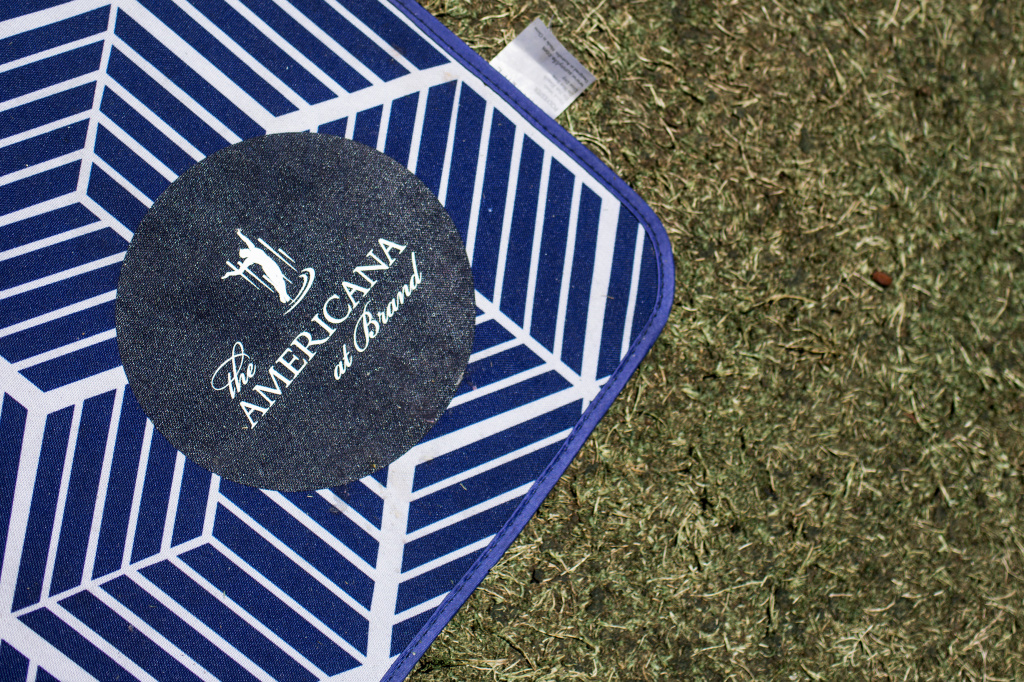 Picnic blankets and umbrellas are available for guests at The Americana at Brand in Glendale on Wednesday, July 20, 2016.
