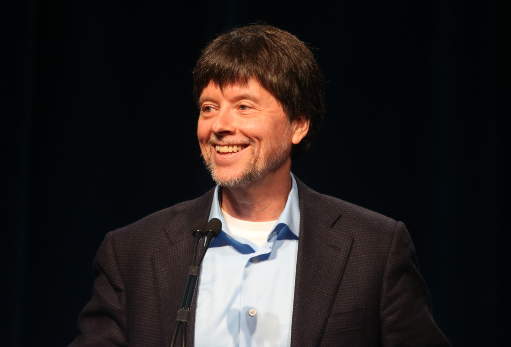 In this file photo, filmmaker Ken Burns speaks onstage during the PBS Press tour 'Ken Burns's The Roosevelts: An Intimate History' panel at the 2014 Summer TCA Tour - Day 15 at The Beverly Hilton Hotel on July 22, 2014 in Beverly Hills, California. Burns, 62, has been selected as grand marshal of the 2016 Rose Parade in Pasadena, the Tournament of Roses announced on Tuesday, November 10, 2015.