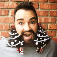 Holiday beard decorating