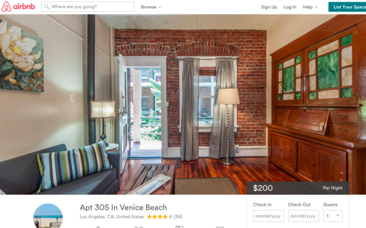 A quick search on Airbnb shows a woman named Martha has 14 listings at The Ellison — each one going for $200 a night.