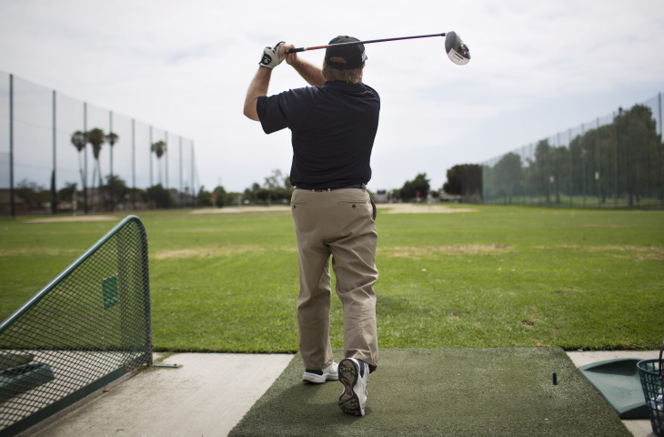 Golfer Greg Kozlowski, 50, practices at the Navy Golf Course in Cypress on Wednesday, July 8, 2015. Kozlowski will be representing the United States during the Special Olympics World Games this July in Los Angeles.