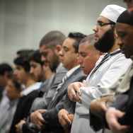 Muslims participate in the Eid al-Fitr p