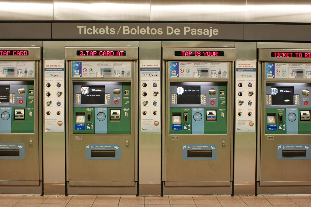 TAP card machines.