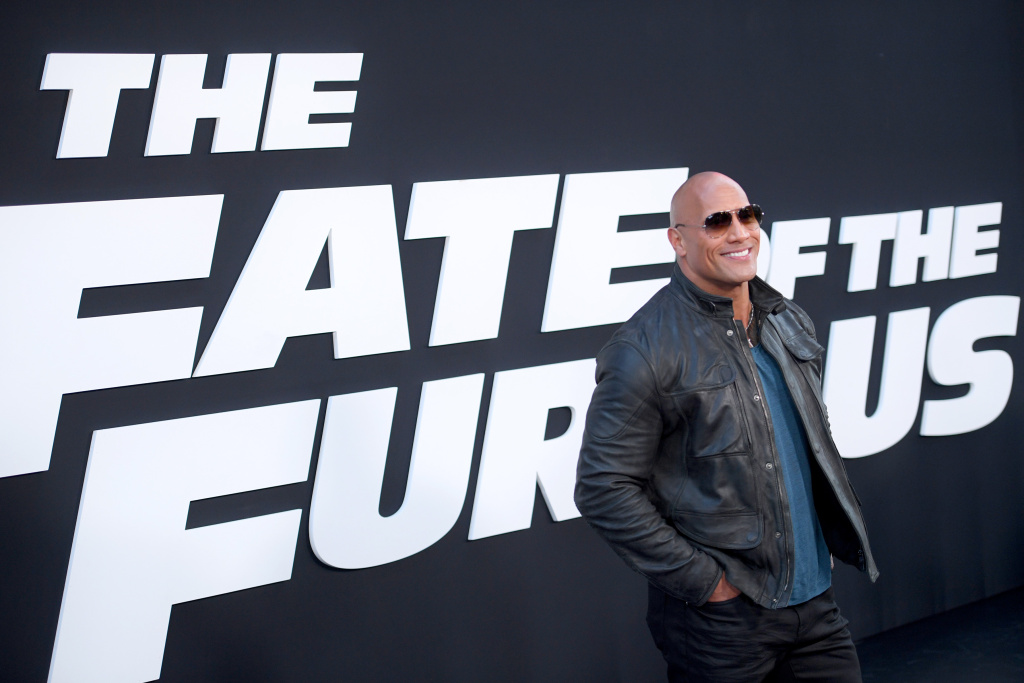 Actor Dwayne Johnson attends