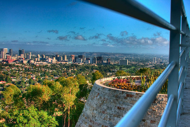 Los Angeles skyline as seen from the Getty Museum.
