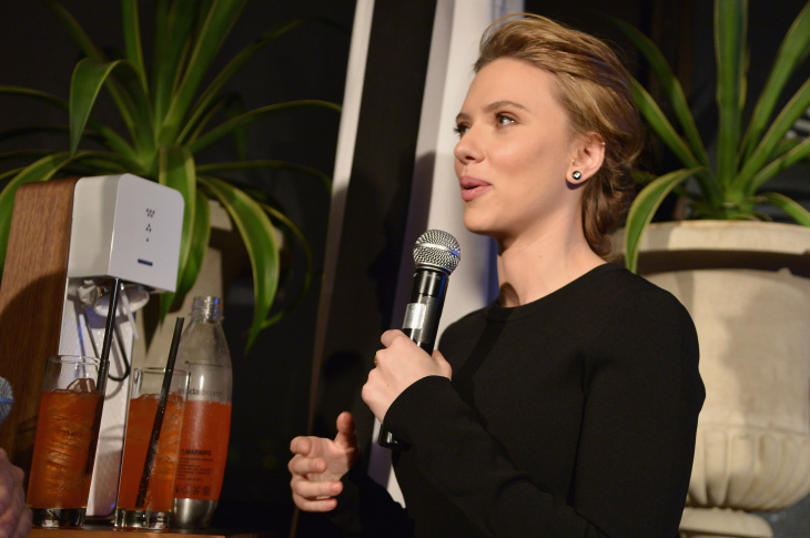 SodaStream unveils Scarlett Johansson as its first-ever Global Brand Ambassador at the Gramercy Park Hotel on Jan. 10, 2014 in New York City.