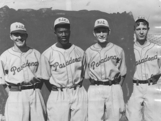 Brooklyn Dodgers, Jackie Robinson (second from left) starred at Pasadena's Muir High, then at Pasadena Junior College
