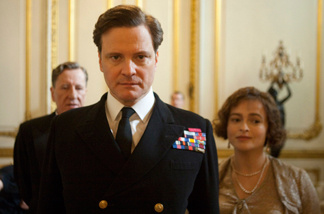 Geoffrey Rush, Colin Firth and Helena Bonham Carter were all nominated for their work in The King's Speech, which led this morning's Oscar nominations with 12.