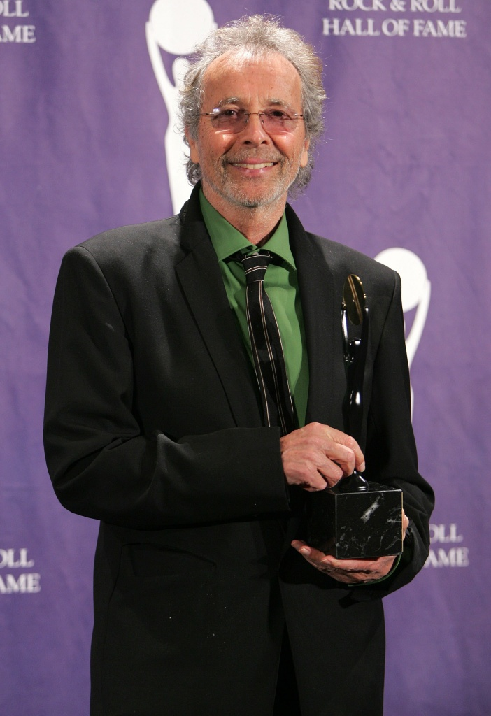 'Lifetime Achievement Award' honoree and A&M Records founder Herb Alpert poses backstage during the Rock And Roll Hall Of Fame Induction Ceremony