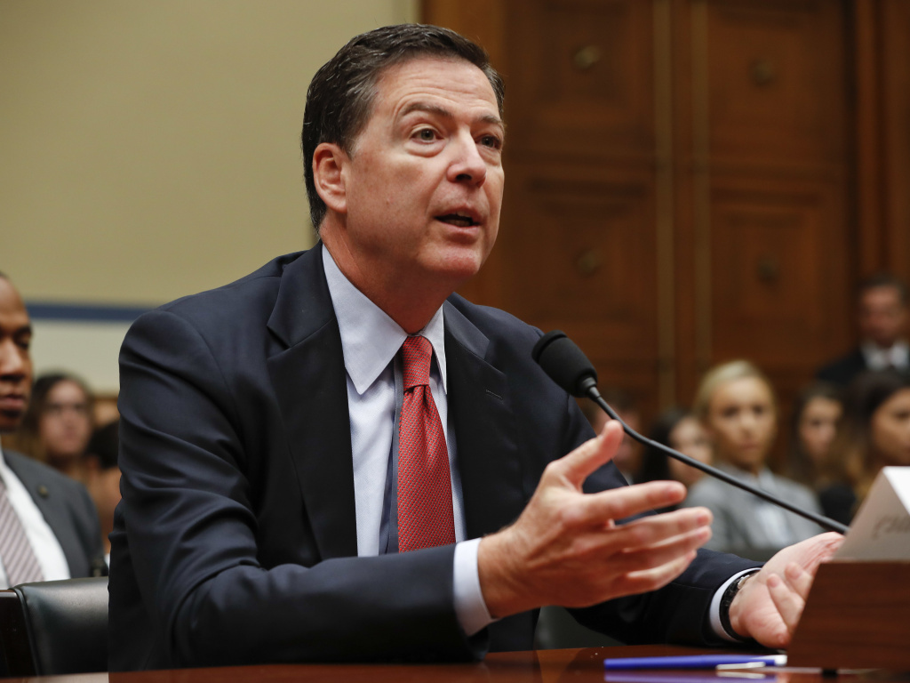 FBI Director James Comey testifies on Capitol Hill in Washington, D.C., on Sept. 28.