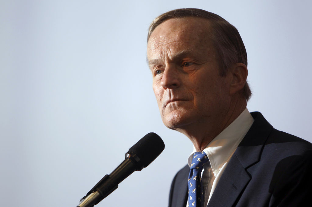 This May 17, 2011 file photo shows U.S. Rep. Todd Akin, R-Mo., announcing his candidacy for U.S. Senate, in Creve Coeur, Mo. Akin said in an interview Sunday, Aug. 19, 2012 with St. Louis television station KTVI that pregnancy from rape is