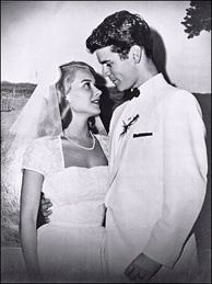 Christopher Murray's parents, Hope Lange and Don Murray, on their wedding day, 1956.