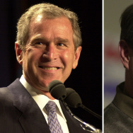 In this composite image a comparison has been made between former US Presidential Candidates George W. Bush (L) and Al Gore.