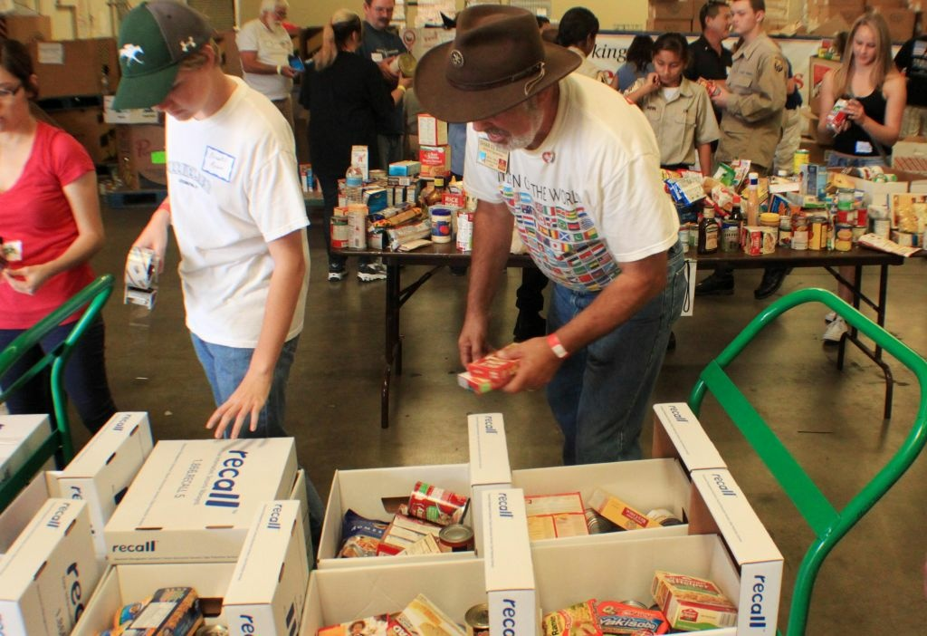 A food bank in Riverside, California.
