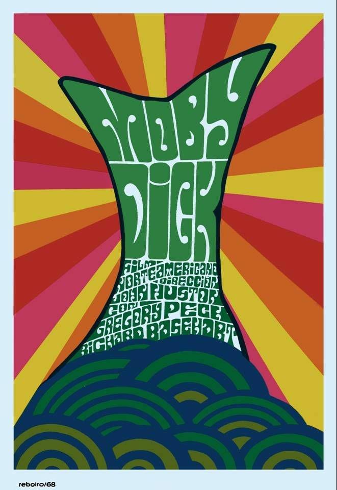 Antonio Fernández Reboiro, 1968 poster for Moby Dick (1956)