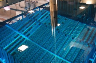 This picture taken on August 21, 2010 shows a MOX fuel storage pool inside the Fukushima No.1 plant third reactor building. Scientists are concerned that the plutonium-uranium mixed fuel may be hard to control.