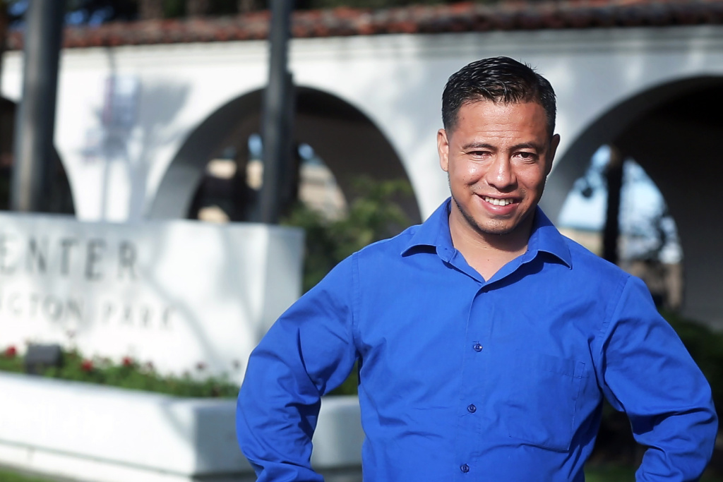 Francisco Medina is one of the organizers of a project called Vote Allies that aims to pair nonvoters with voters. Medina made headlines last summer as one of two men without legal resident status who were appointed to city commissions in Huntington Park in Southern California.
