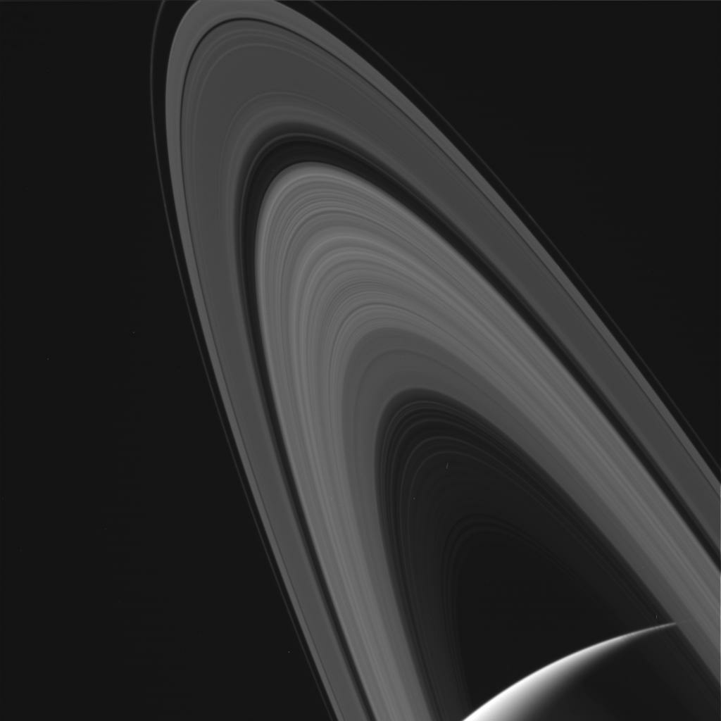 An image of the rings of Saturn taken by the Cassini spacecraft on May 13, 2017.