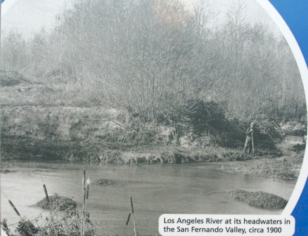 THEN: The LA River's headwaters, over a century ago, were weedy and brackish, but free-flowing.