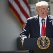 U.S. President Donald Trump announces his decision regarding the United States' participation in the Paris climate agreement in the Rose Garden at the White House June 1, 2017 in Washington, DC.