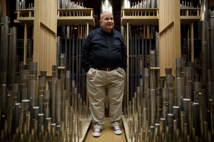 Manuel Rosales built the organ at the Walt Disney Concert Hall in conjunction with a design from architect Frank Gehry. The organ turns 10 years old this month.