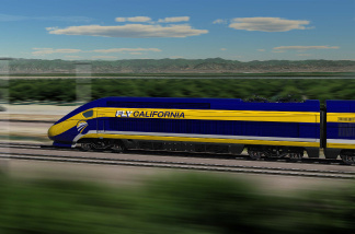 A graphic rendering of a proposed train.