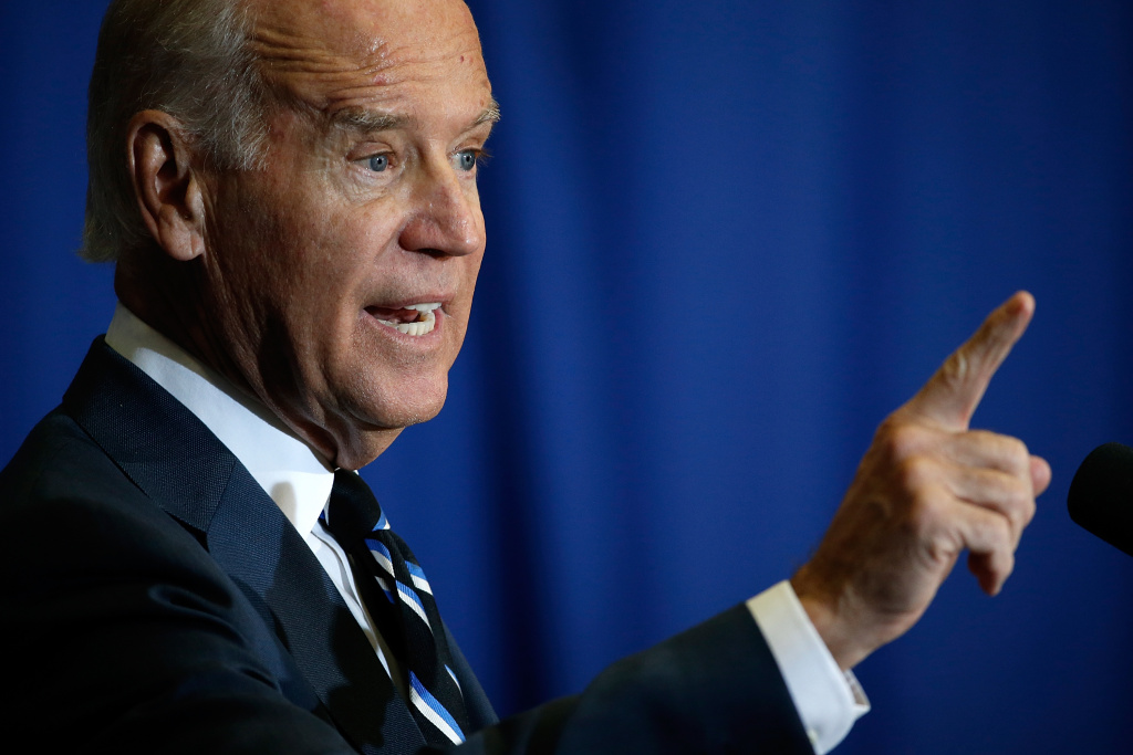 U.S. Vice President Joe Biden speaks at George Washington University.