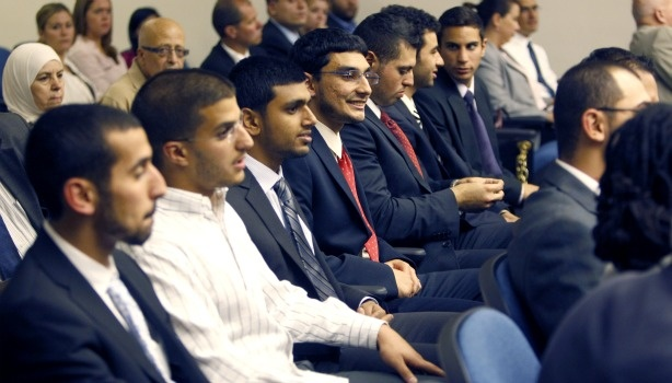 Some of the so-called 'Irvine 11' who are accused of disrupting a speech by the Israeli ambassador to the U.S. at the University of California, at Irvine.